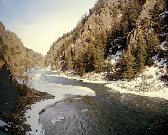 A canyon of the upper Colorado River along the California Zephyr line with wheat, silver, cattle, and coal for which there was little or no need ; wrecked communities, including many Native American
