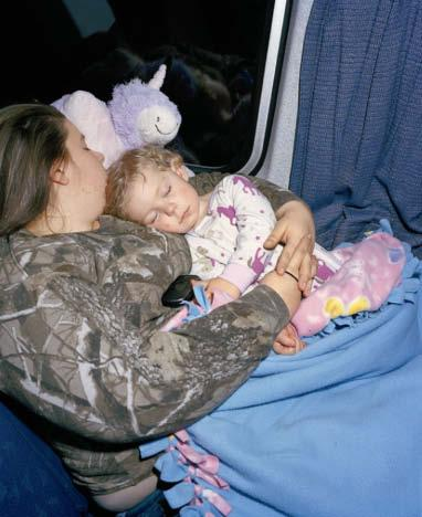 This page, from left: An Amtrak employee on the Silver Star. A mother and daughter travel from Cary, North Carolina, to Jacksonville, Florida, on the Silver Star.
