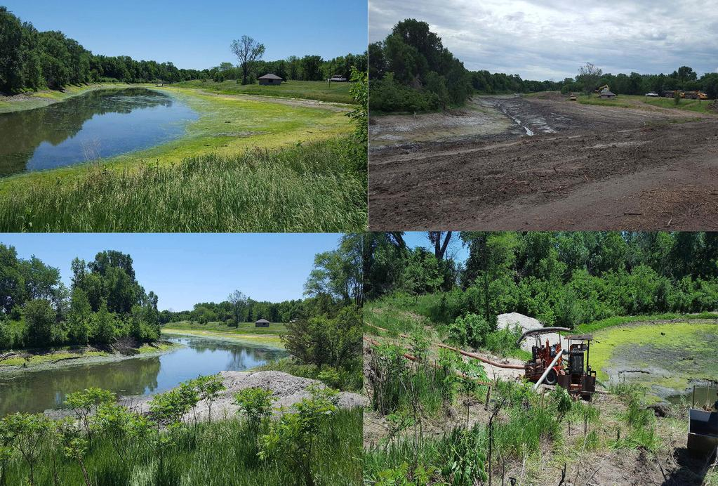 Village of Ayr, NRD & other investers have contracted to have work done to the lake area.