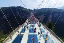 Sports Capital Colombo Glass Bridge China 17 August - The 430-metre long and six metre wide Glass Bridge set to be the world s longest and highest glass bridge will open to visitors in Hunan province