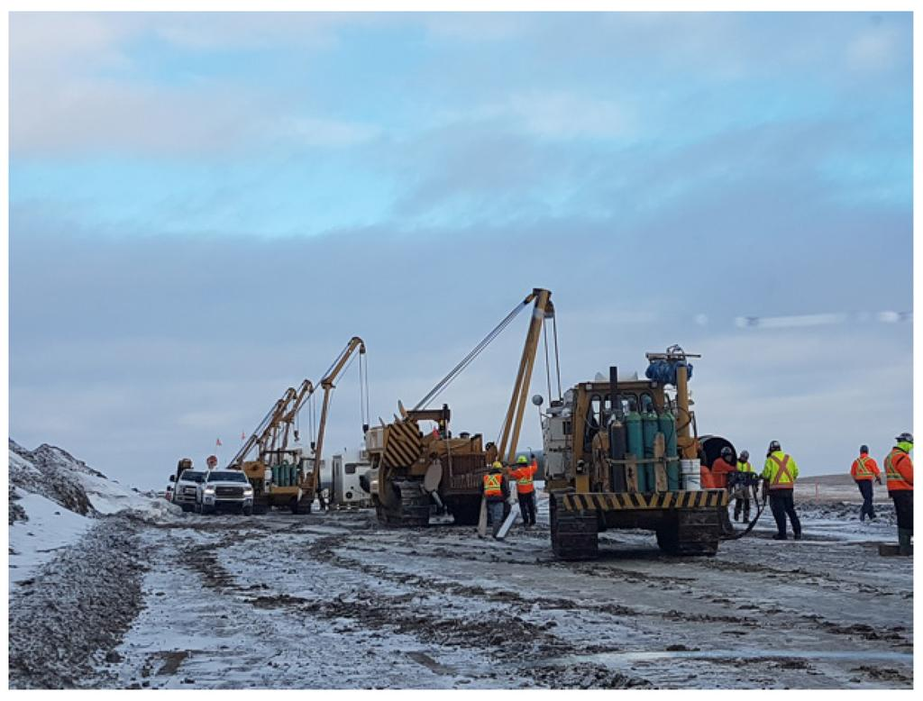 Spill clean up Km 162+750 Dec 4, 2017 3.