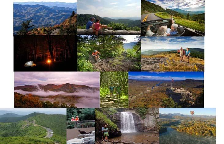 Mountain Scenery These thirteen images depict a vacation experience in which mountain scenery is central.
