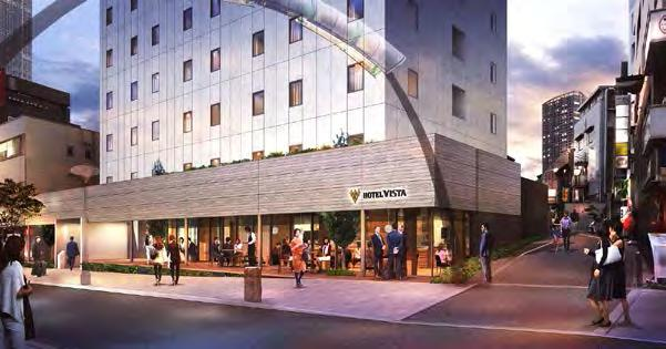 Artist s impression of completed Hotel Vista Kanazawa Hotel Vista Premio Tokyo Akasaka - scheduled for opening in 2018 spring The hotel is currently under construction and 140 rooms are currently