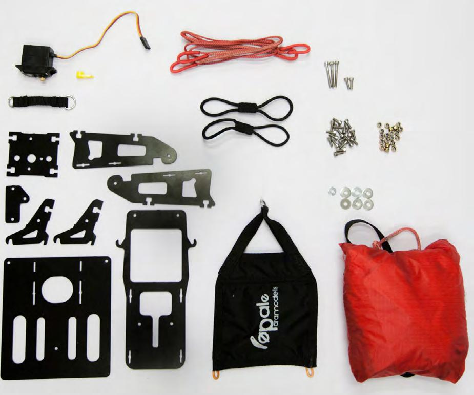 Thanks for having chosen Opale Paramodels. We truly believe that this parachute rescue kit will satisfy you and will let you use your equipment in optimal safety conditions.
