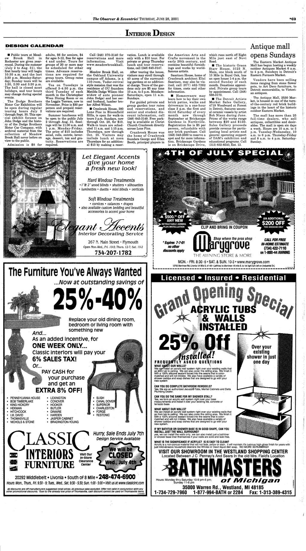 Canton dbsmrc your hometown newspaper serving canton for 26 years pdf the observer eccentric thursday june 28 2001 c3 in terior design fandeluxe Gallery
