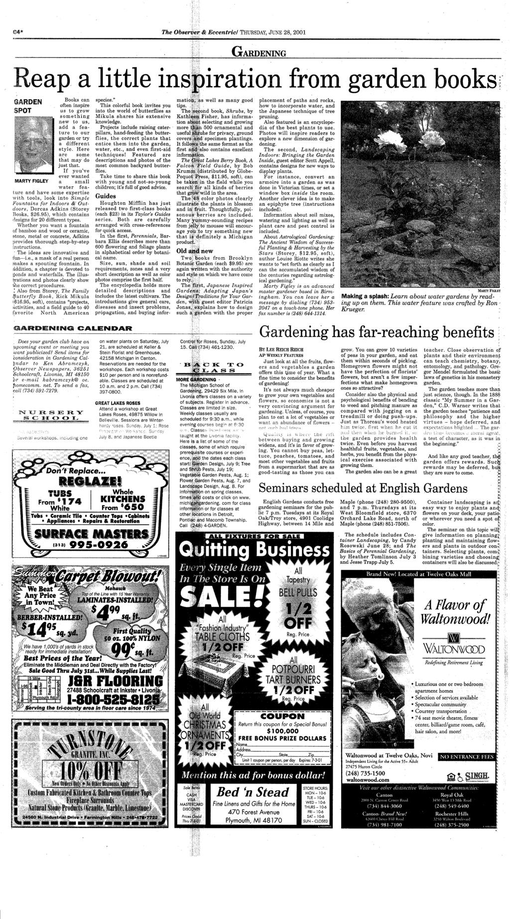 Canton dbsmrc your hometown newspaper serving canton for 26 years pdf 04 the observer eccentric thursday june 28 2001 gardening reap a fandeluxe Images