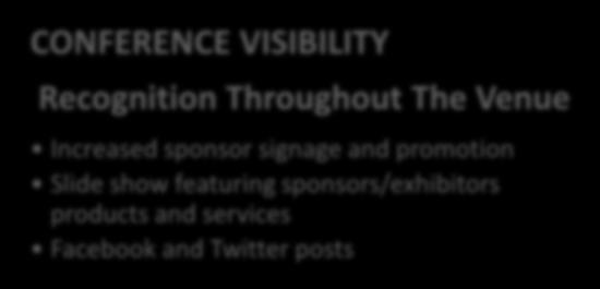 attendee registrations CONFERENCE VISIBILITY Recognition Throughout The Venue Increased