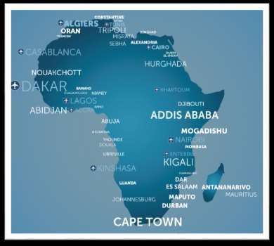 AFRICA ROUTES Freighter Frequency WB Frequency Region Destination Fr.