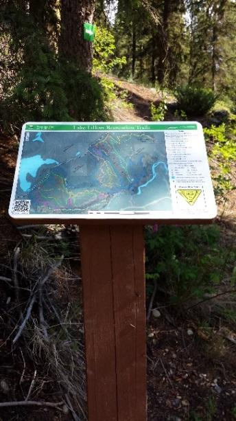 An example of when these types of signs would be used could be when it is necessary to caution trail users of