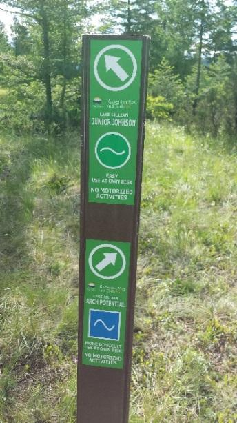 notifications to the users to changes to the trail system in unusual situations.