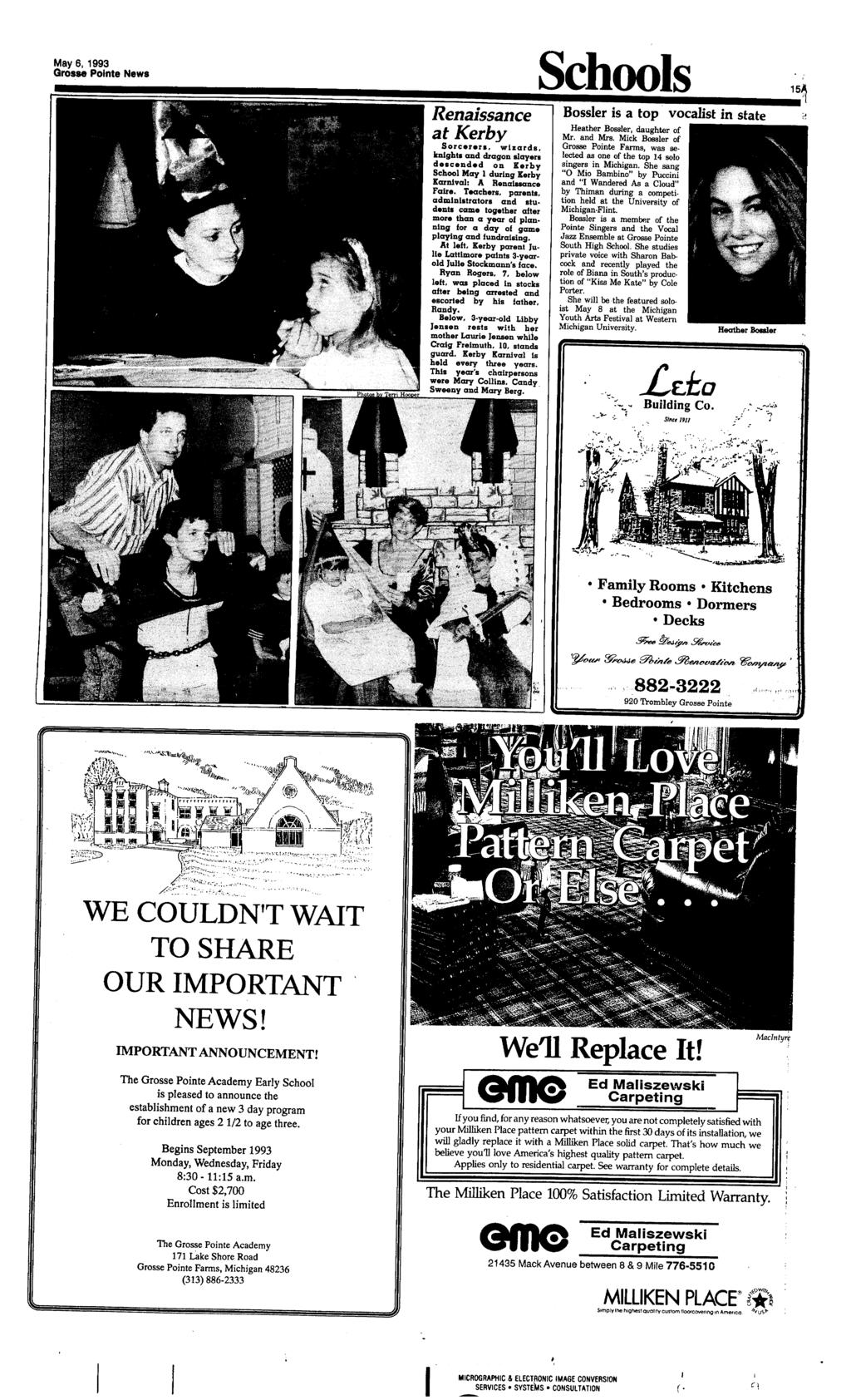 Grosse Pointe News Vol 54 No Pdf Bq Wkbk Grade 3 Ages 8 9 May 61993 Renaissance At Kerby Sorceren Wizards Knights And