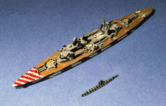 The first releases include seven submarines plus two projected battleship types.