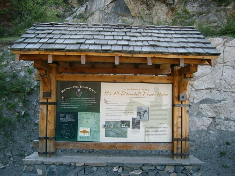 Interpretive/Heritage Sites The Log Flume Heritage Site is a primary stop along the Sherman Pass Scenic Byway.