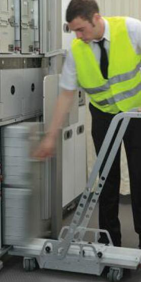 Plug & Play galley equipment facilitating airlines to implement route specific menus, Equipment to segregate waste for implementing recycling initiatives.