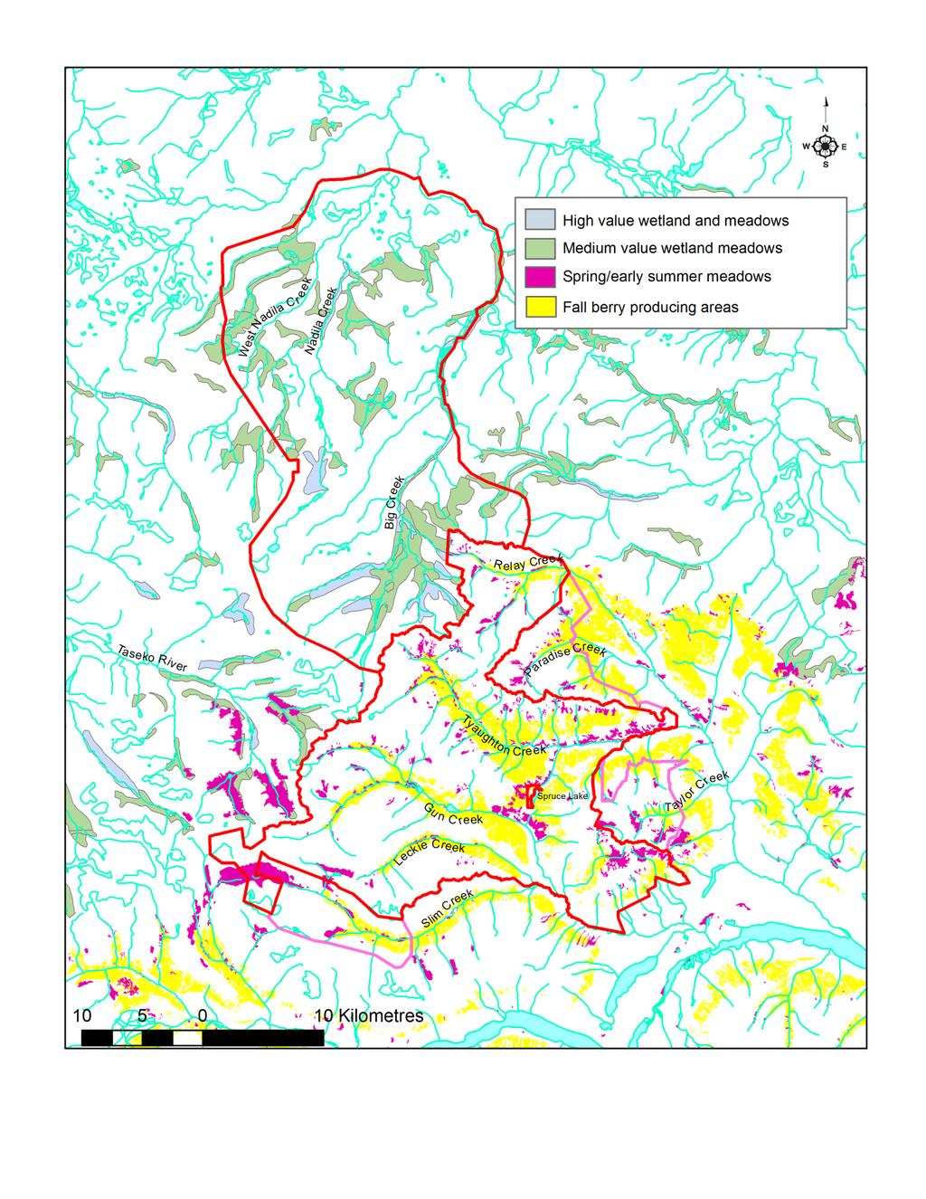 Figure 4: Grizzly Bear Seasonal Habitats Note: Mapping derived from different habitat models for each park.