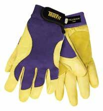 Top-grain leather side bolsters provide additional protection for side surface work. Finger tips covered in leather for heavy wear area protection. Not designed for welding. 72 Pr/Cs.