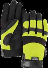 2137HY Armor Skin Synthetic Leather Gloves with Slip-On Cuff Provides excellent abrasion resistance.