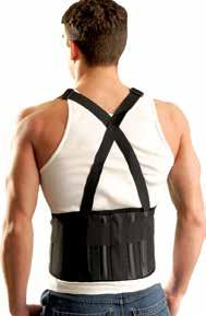 "611 The Mustang Back Support with Suspenders Features 8 1/4"" wide powerful elastic back panel, breathable, polypropylene mesh body, solid elastic sidebands and (4) super memory plastic stays."