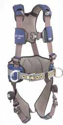 Fall Protection Category ExoFit NEX Construction Style Harnesses Full-body harness provides comfort and function with soft, yet extremely durable, anti-absorbent webbing, strategically placed padding
