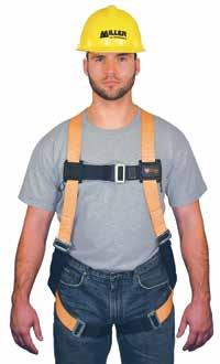 Fall Protection Category T4500/UAK Titan Non-Stretch Harnesses Constructed with lightweight, durable, non-stretch polyester webbing, fully adjustable full-body harness has sliding back D-ring,