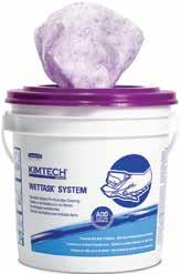 Page 233 Kimtech* Wettask* Dual Performance Wiping System Innovative wipes feature a purple, textured side to make