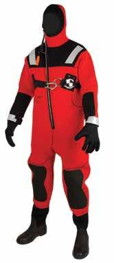 Ice Rescue Suits One-piece suit made of 100% closed-cell neoprene. Provides buoyancy and insulation.