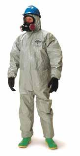 Category Protective Clothing Disposable DuPont Tychem F Coveralls Made of proprietary barrier film laminated to Tyvek substrate.