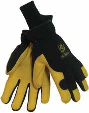 Category Cold Weather Gear 1568 1568 Split Leather/Cotton Winter Gloves Rugged, select shoulder split cowhide palm, canvas back winter gloves feature ColdBlock poly/cotton