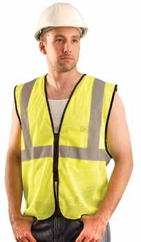 "vest 2XL 690-1212 G73512121 Class 2 safety vest 3XL 690-1210 Value Mesh Vests with Zipper Made of 100% ANSI polyester mesh with 2"" silver reflective tape."