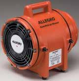 "Confined Category Space 16"" and 20"" Axial Blowers Designed for large confined spaces. Delivers high output for drawing or pushing air. Constructed with durable orange metal housing."