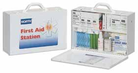 Construction Bulk First Aid Kits Provides a wide variety of items that meet the needs for most minor injuries encountered in a construction environment.