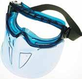 ventilation and polycarbonate shield for full face protection. Curved polycarbonate faceshield conforms to the shape of face offering added protection.