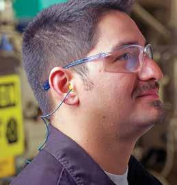 Hearing Protection Category 3M E-A-R Classic rplugs Moisture- and flame-resistant. Slow-recovery foam provides comfortable, effective seal while exerting low pressure in ear canal.