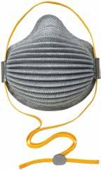 Collapse-resistant Dura-Mesh shell helps respirator last longer, reduces waste and increases cost savings.