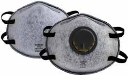 Respirator life extended by double-shell construction which is collapse-resistant and withstands hot and humid conditions. Built-in low pressure drop (LPD) exhalation valve for easier breathing.