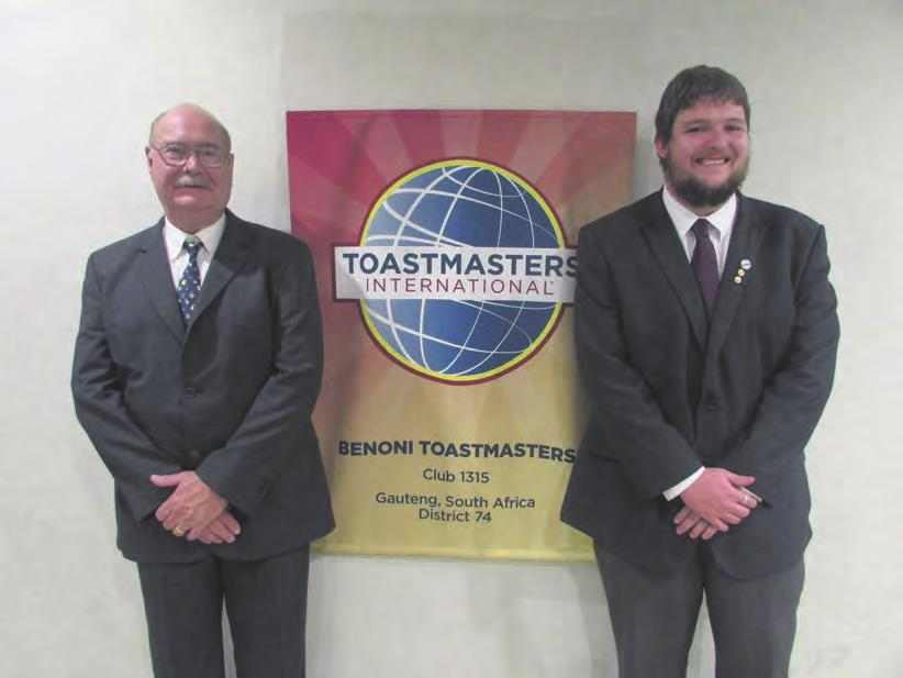 Friday April 28 2017 wwwbenonicitytimescoza NEWS 7 They are masters of public speaking art Benoni Toastmasters recently