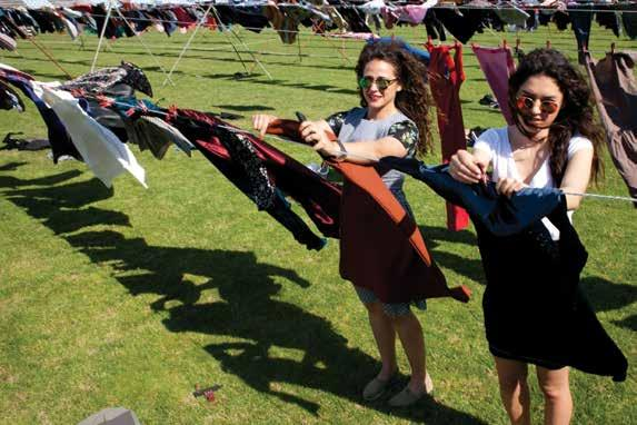 AS WE ARE FULL EMPOWERMENT In June 2015, thousands of women s dresses were hung on clotheslines across the field of Prishtina s football stadium, as part of an art