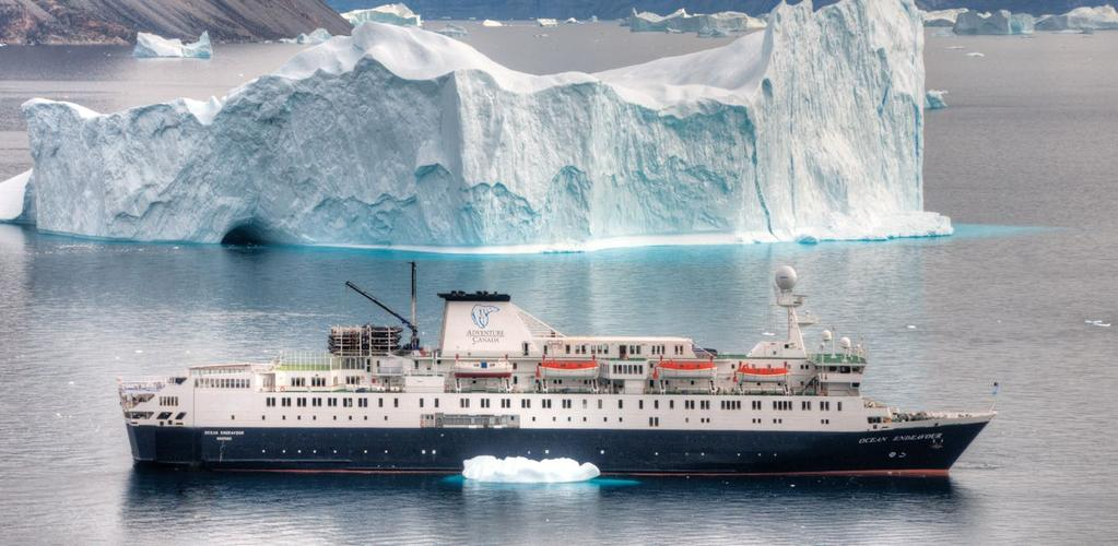 THE OCEAN ENDEAVOUR Jerry Kobalenko The Ocean Endeavour is the perfect vessel for expedition cruising.