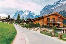 amidst wonderful scenery to the Kleine Scheidegg Mountain railway station located at the foot of the notorious Eiger North Face.