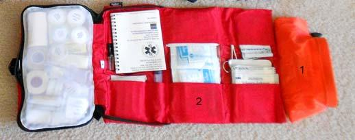 1 Waterproof pouch for first aid