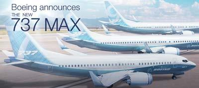 BOEING 737 MAX TO REPLACE MAINLINE NARROWBODY Air Canada concluded an agreement with Boeing which includes firm orders for 33 737 MAX 8 and