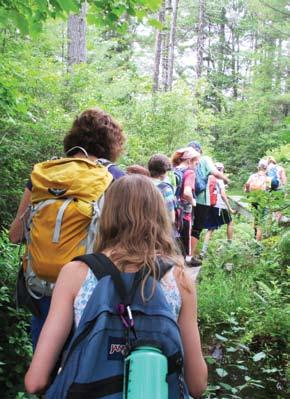 Wanderers July 9 to 12, for grades 6 through 8 Join Wanderers for a three-day backpacking adventure!