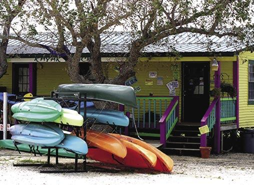 Alabama s Gulf Beaches Kayak shack on Dauphin Island.
